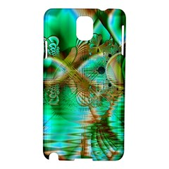 Spring Leaves, Abstract Crystal Flower Garden Samsung Galaxy Note 3 N9005 Hardshell Case by DianeClancy