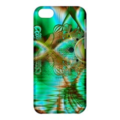 Spring Leaves, Abstract Crystal Flower Garden Apple Iphone 5c Hardshell Case by DianeClancy