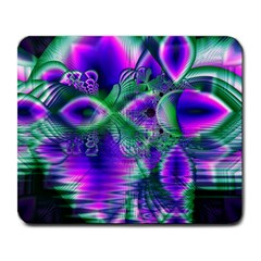 Evening Crystal Primrose, Abstract Night Flowers Large Mouse Pad (rectangle) by DianeClancy