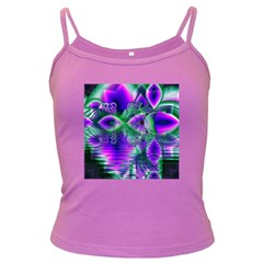 Evening Crystal Primrose, Abstract Night Flowers Spaghetti Top (colored) by DianeClancy