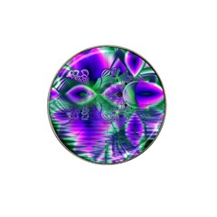 Evening Crystal Primrose, Abstract Night Flowers Golf Ball Marker 4 Pack (for Hat Clip) by DianeClancy