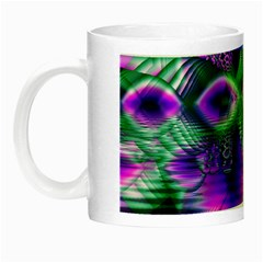 Evening Crystal Primrose, Abstract Night Flowers Glow In The Dark Mug by DianeClancy