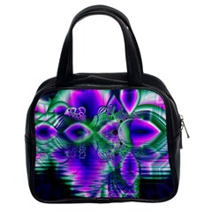 Evening Crystal Primrose, Abstract Night Flowers Classic Handbag (two Sides) by DianeClancy