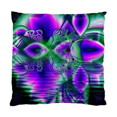 Evening Crystal Primrose, Abstract Night Flowers Cushion Case (two Sided)  by DianeClancy
