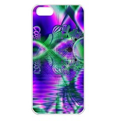 Evening Crystal Primrose, Abstract Night Flowers Apple Iphone 5 Seamless Case (white) by DianeClancy