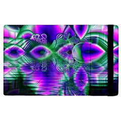 Evening Crystal Primrose, Abstract Night Flowers Apple Ipad 2 Flip Case by DianeClancy