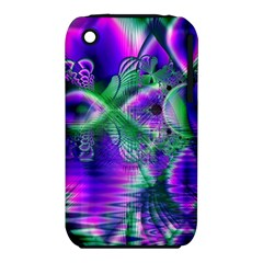 Evening Crystal Primrose, Abstract Night Flowers Apple Iphone 3g/3gs Hardshell Case (pc+silicone) by DianeClancy