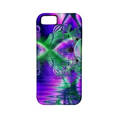 Evening Crystal Primrose, Abstract Night Flowers Apple Iphone 5 Classic Hardshell Case (pc+silicone) by DianeClancy