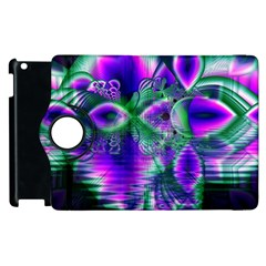 Evening Crystal Primrose, Abstract Night Flowers Apple Ipad 2 Flip 360 Case by DianeClancy