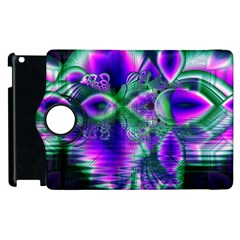 Evening Crystal Primrose, Abstract Night Flowers Apple Ipad 3/4 Flip 360 Case by DianeClancy
