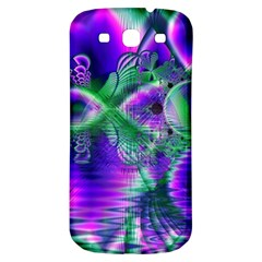 Evening Crystal Primrose, Abstract Night Flowers Samsung Galaxy S3 S Iii Classic Hardshell Back Case by DianeClancy