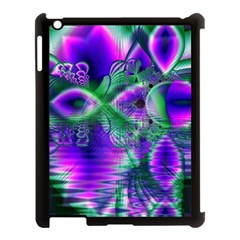 Evening Crystal Primrose, Abstract Night Flowers Apple Ipad 3/4 Case (black) by DianeClancy