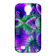 Evening Crystal Primrose, Abstract Night Flowers Samsung Galaxy S4 Classic Hardshell Case (pc+silicone) by DianeClancy