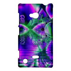 Evening Crystal Primrose, Abstract Night Flowers Nokia Lumia 720 Hardshell Case by DianeClancy