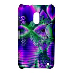 Evening Crystal Primrose, Abstract Night Flowers Nokia Lumia 620 Hardshell Case by DianeClancy
