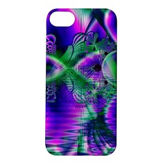 Evening Crystal Primrose, Abstract Night Flowers Apple Iphone 5s Hardshell Case by DianeClancy