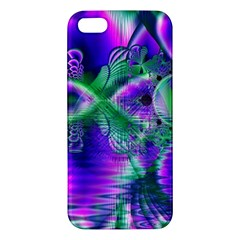 Evening Crystal Primrose, Abstract Night Flowers Iphone 5s Premium Hardshell Case by DianeClancy