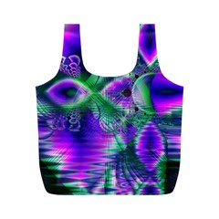 Evening Crystal Primrose, Abstract Night Flowers Reusable Bag (m) by DianeClancy