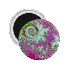 Raspberry Lime Surprise, Abstract Sea Garden  2 25  Button Magnet by DianeClancy