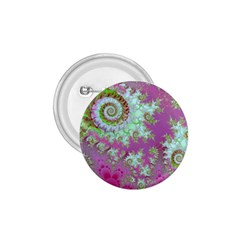 Raspberry Lime Surprise, Abstract Sea Garden  1 75  Button by DianeClancy