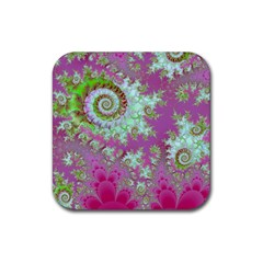 Raspberry Lime Surprise, Abstract Sea Garden  Drink Coasters 4 Pack (square) by DianeClancy
