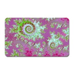 Raspberry Lime Surprise, Abstract Sea Garden  Magnet (rectangular) by DianeClancy