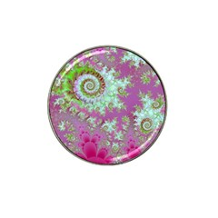 Raspberry Lime Surprise, Abstract Sea Garden  Golf Ball Marker 4 Pack (for Hat Clip) by DianeClancy