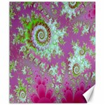 Raspberry Lime Surprise, Abstract Sea Garden  Canvas 20  x 24  (Unframed) 24 x20 Canvas - 1