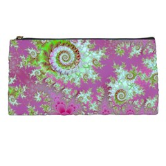 Raspberry Lime Surprise, Abstract Sea Garden  Pencil Case