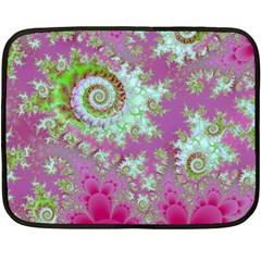 Raspberry Lime Surprise, Abstract Sea Garden  Mini Fleece Blanket (two Sided) by DianeClancy