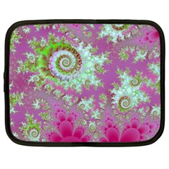 Raspberry Lime Surprise, Abstract Sea Garden  Netbook Sleeve (xl) by DianeClancy