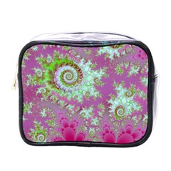 Raspberry Lime Surprise, Abstract Sea Garden  Mini Travel Toiletry Bag (one Side) by DianeClancy