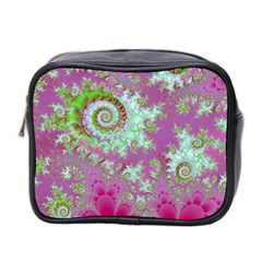 Raspberry Lime Surprise, Abstract Sea Garden  Mini Travel Toiletry Bag (two Sides) by DianeClancy