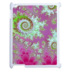 Raspberry Lime Surprise, Abstract Sea Garden  Apple iPad 2 Case (White)