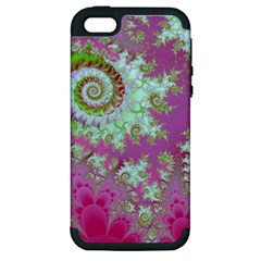 Raspberry Lime Surprise, Abstract Sea Garden  Apple Iphone 5 Hardshell Case (pc+silicone) by DianeClancy