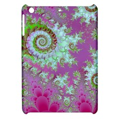 Raspberry Lime Surprise, Abstract Sea Garden  Apple Ipad Mini Hardshell Case by DianeClancy