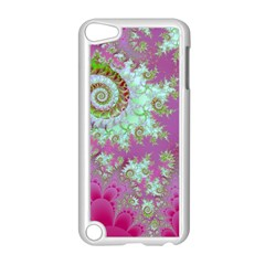 Raspberry Lime Surprise, Abstract Sea Garden  Apple Ipod Touch 5 Case (white) by DianeClancy