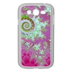 Raspberry Lime Surprise, Abstract Sea Garden  Samsung Galaxy Grand Duos I9082 Case (white) by DianeClancy