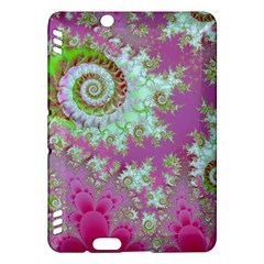 Raspberry Lime Surprise, Abstract Sea Garden  Kindle Fire Hdx 7  Hardshell Case by DianeClancy