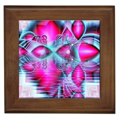 Ruby Red Crystal Palace, Abstract Jewels Framed Ceramic Tile by DianeClancy