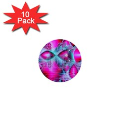Ruby Red Crystal Palace, Abstract Jewels 1  Mini Button (10 Pack) by DianeClancy