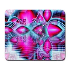 Ruby Red Crystal Palace, Abstract Jewels Large Mouse Pad (rectangle) by DianeClancy