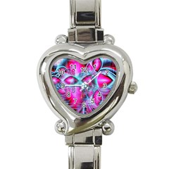 Ruby Red Crystal Palace, Abstract Jewels Heart Italian Charm Watch  by DianeClancy