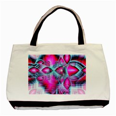 Ruby Red Crystal Palace, Abstract Jewels Twin Sided Black Tote Bag by DianeClancy
