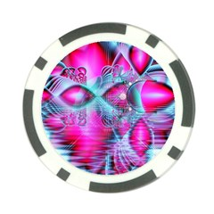 Ruby Red Crystal Palace, Abstract Jewels Poker Chip (10 Pack) by DianeClancy