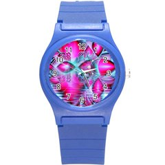 Ruby Red Crystal Palace, Abstract Jewels Plastic Sport Watch (Small)