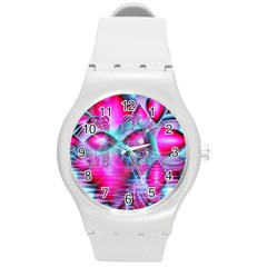 Ruby Red Crystal Palace, Abstract Jewels Plastic Sport Watch (medium) by DianeClancy