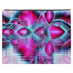 Ruby Red Crystal Palace, Abstract Jewels Cosmetic Bag (xxxl) by DianeClancy