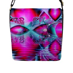 Ruby Red Crystal Palace, Abstract Jewels Flap Closure Messenger Bag (large) by DianeClancy