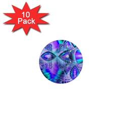 Peacock Crystal Palace Of Dreams, Abstract 1  Mini Button Magnet (10 Pack) by DianeClancy